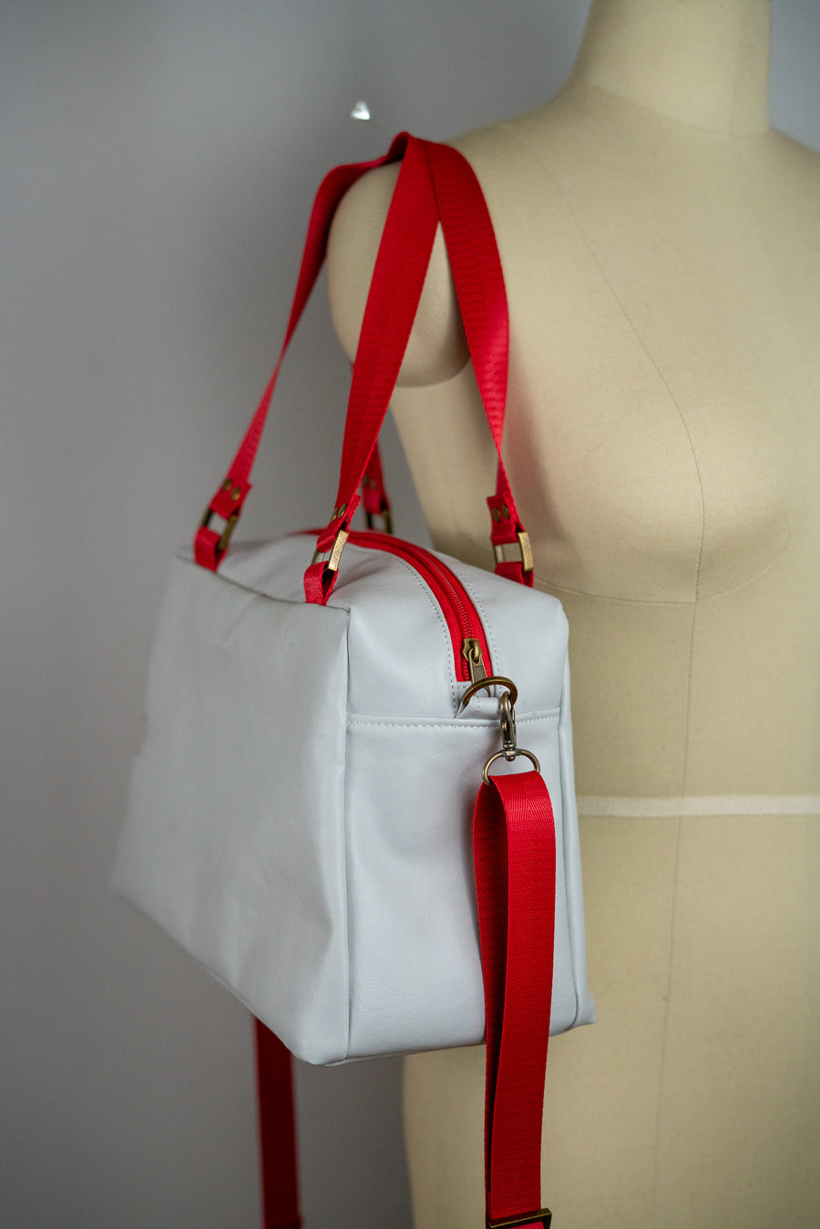 White Faux Leather Quinn Handbag