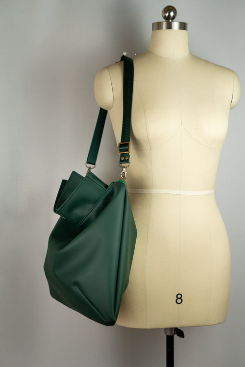 Emerald Green Faux Leather Mia Satchel