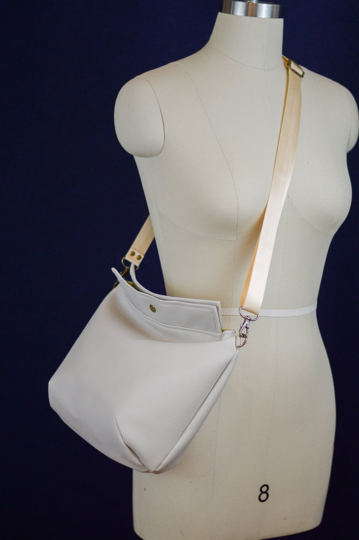 Mia Satchel | Little White Bag | Cream Faux Leather Satchel