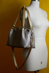 Hematite Faux Leather Quinn Handbag