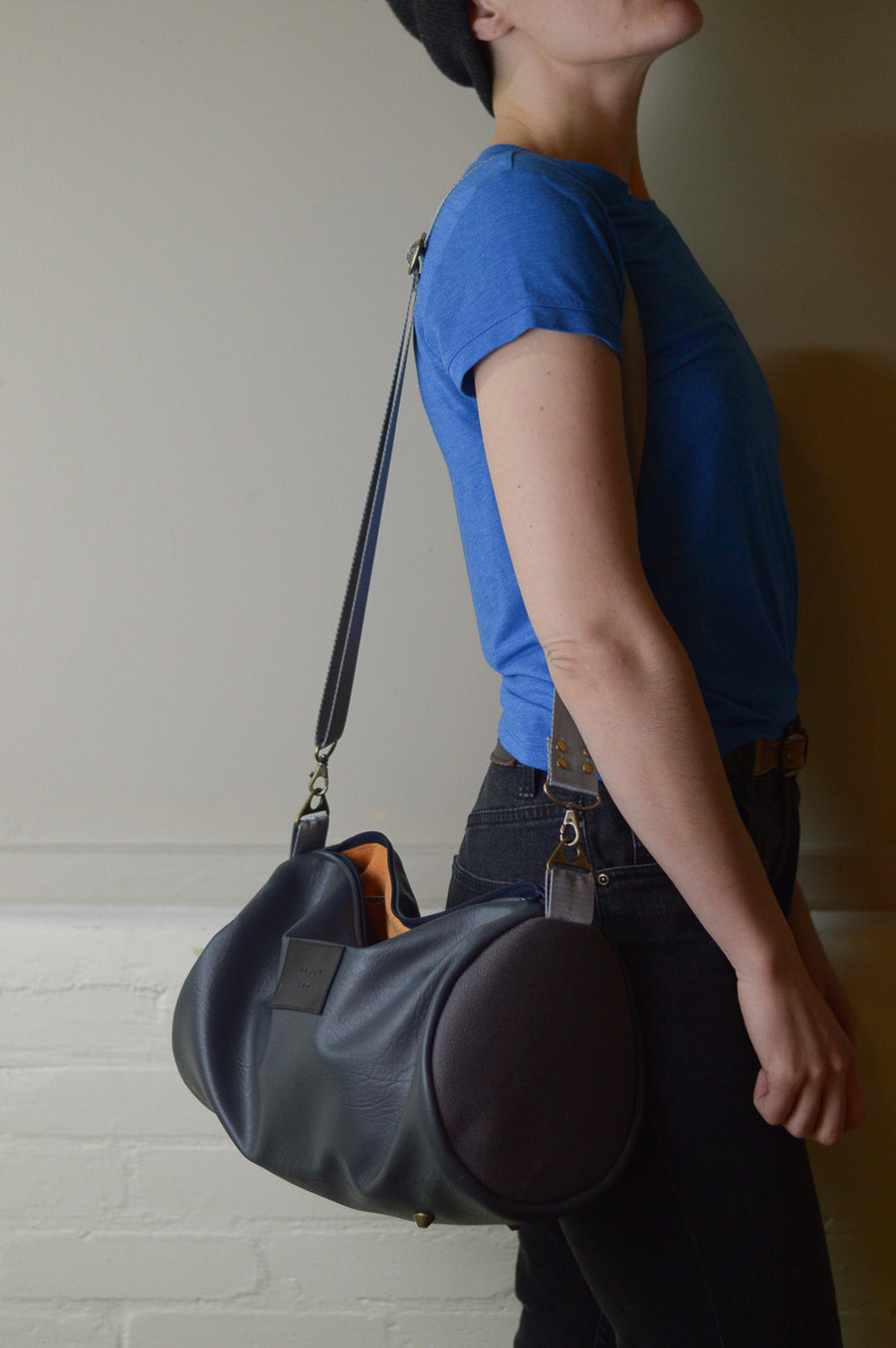 Grey Mini Duffel Bag