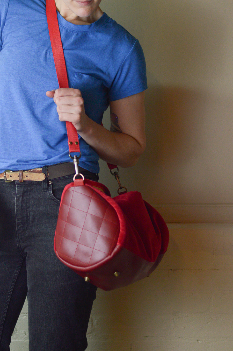 Red Mini Duffle Holdall Handbag | Spring 2019