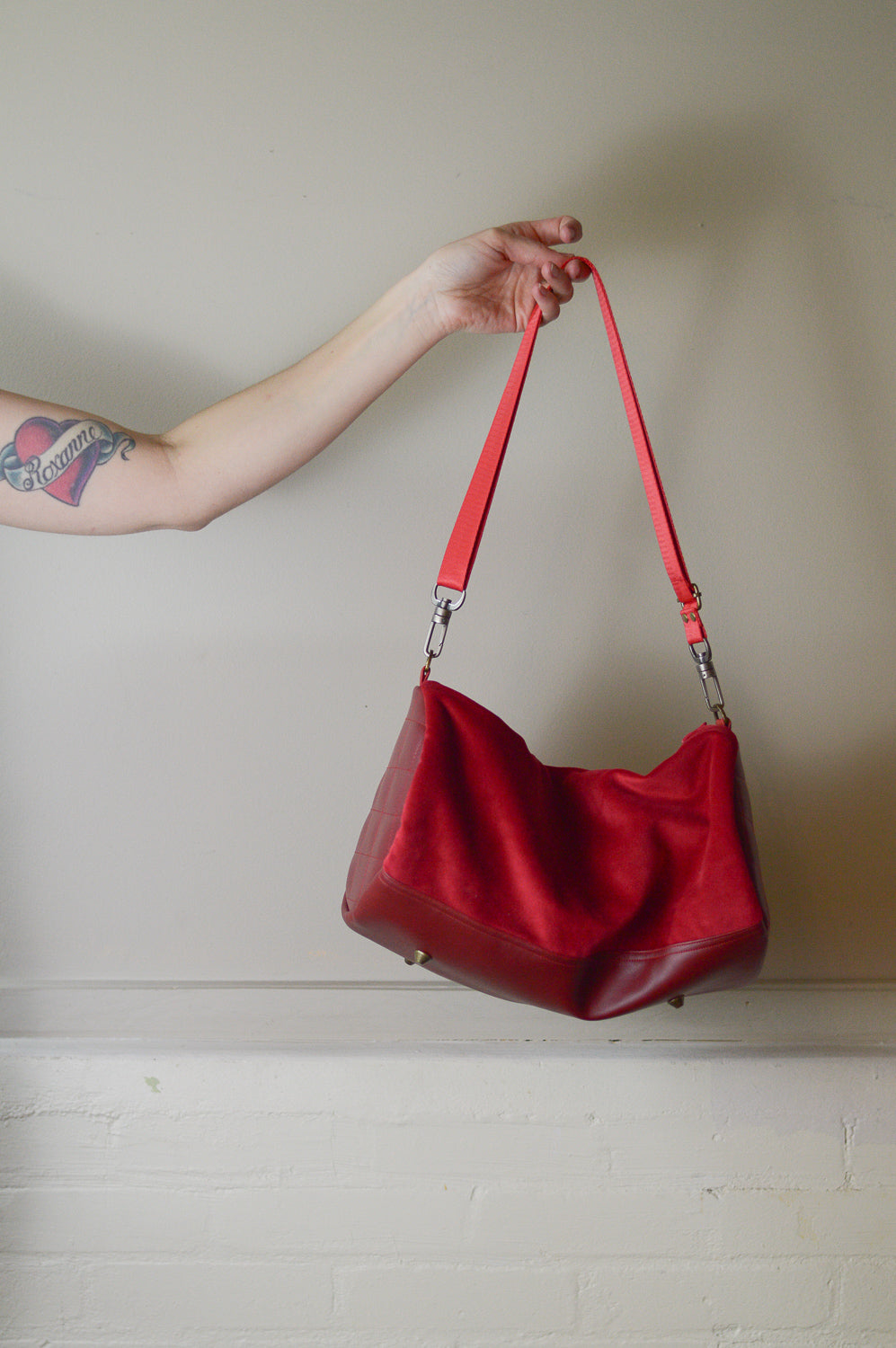 Red Mini Duffle Holdall Handbag | Spring 2019 | READY TO SHIP
