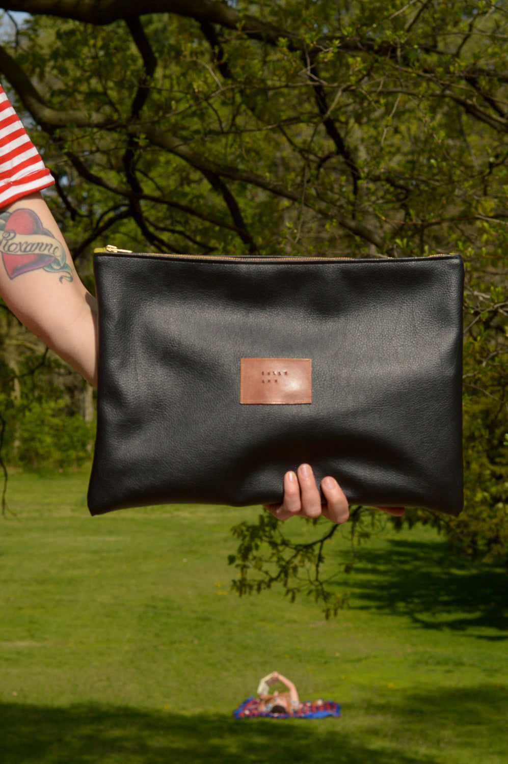 Black Oversized Clutch | Laptop Sleeve | Large Clutch | Ready To Ship