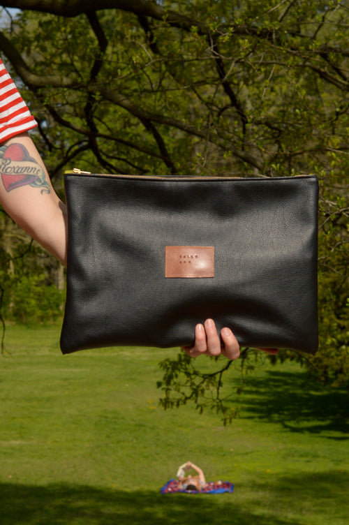 Black Oversized Clutch