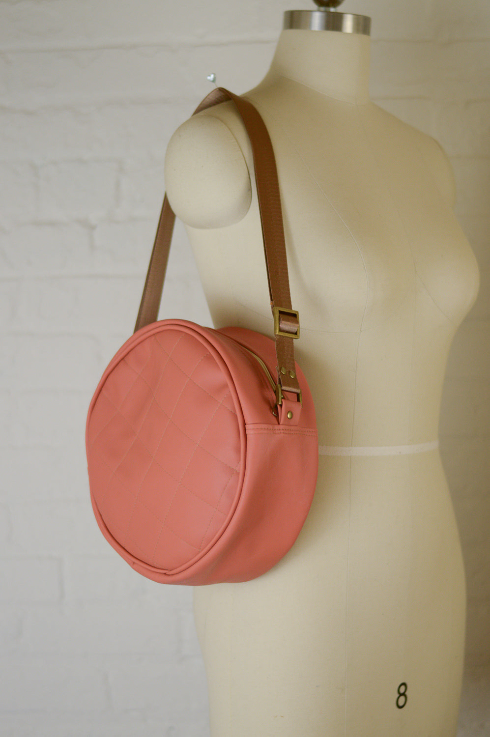 Winnie Handbag | Dusty Peach Faux Leather Sustainable Handbag