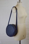 Navy Blue Faux Leather Sustainable Handbag | Winnie Handbag