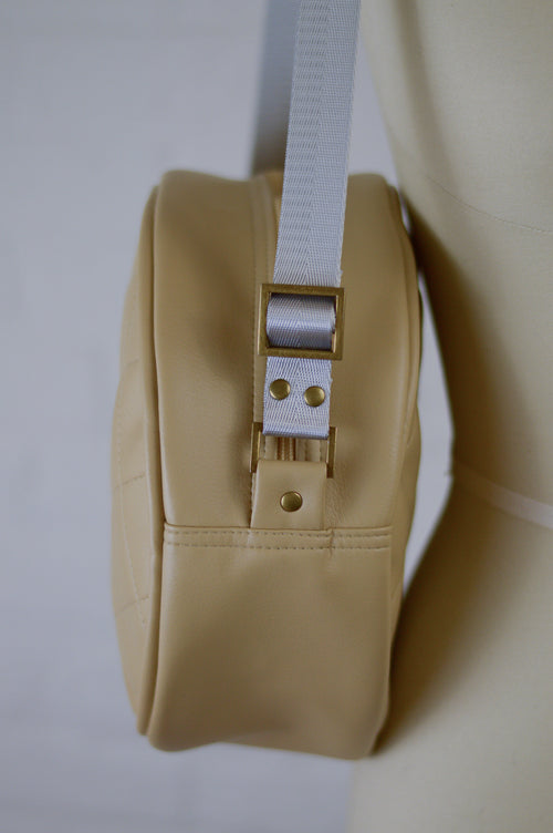 Winnie Handbag | Desert Sand Faux Leather Sustainable Handbag