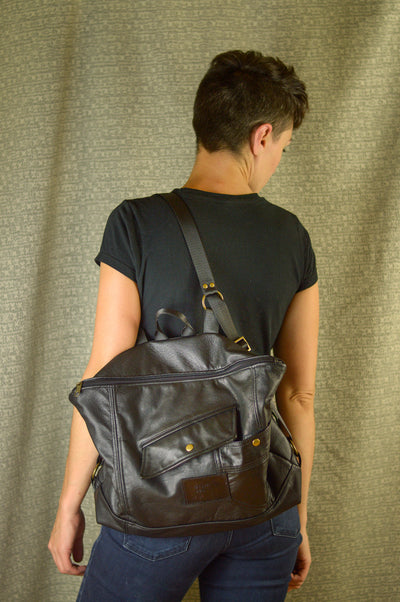 Custom All Leather Backpack