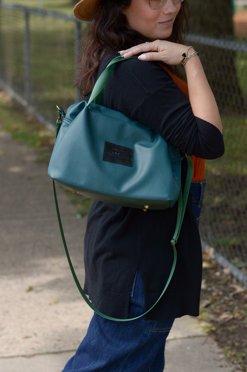 Peacock Green Deluxe Handbag | Ready To Ship