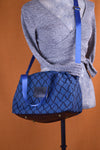 Sapphire Blue Diamond Sustainable Fabric Handbag | Quinn Handbag