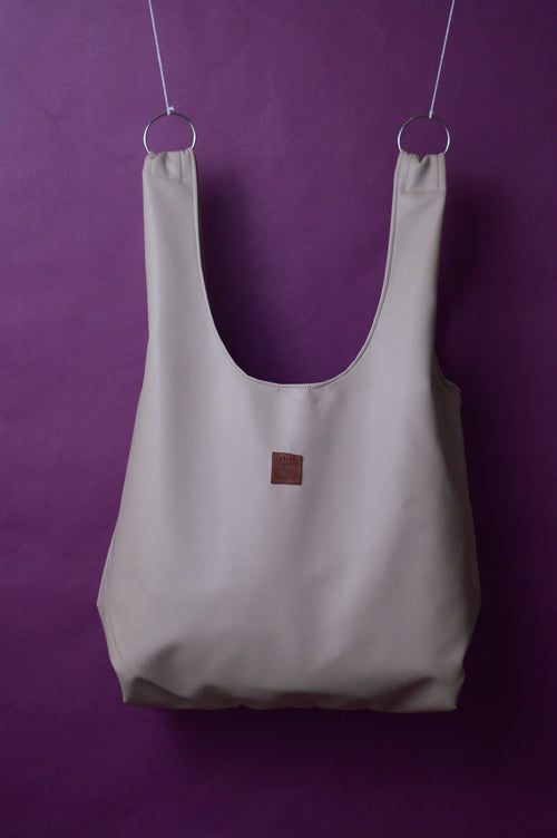 Market Bag | Alabaster Faux Leather | Carry All Bag