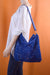 Royal Blue Velour Slouchy Satchel