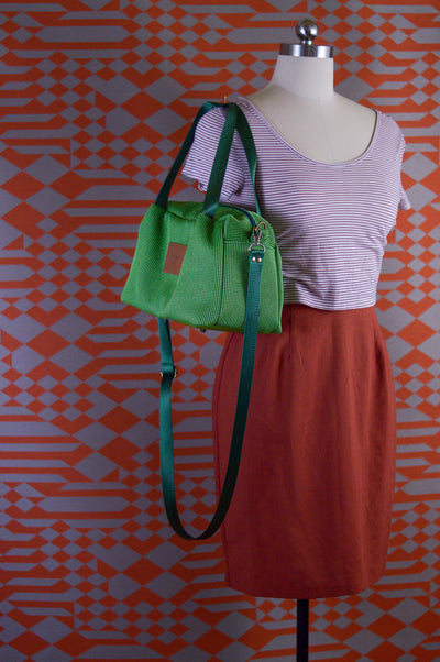 Neon Green Forest Quinn Handbag