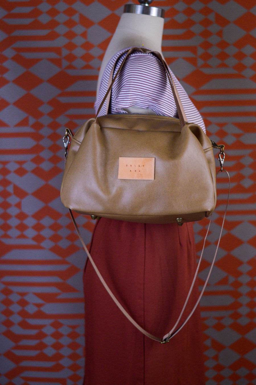 Desert Sand Faux Leather Quinn Bag