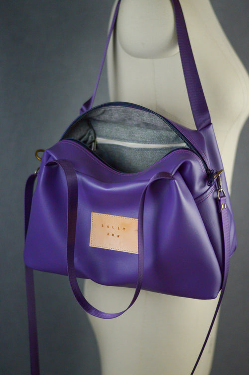 Violet Purple Faux Leather Sustainable Bag | Quinn Handbag
