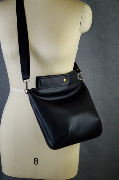 Mia Satchel | Little Black Bag | Faux Leather Satchel In Six Colors