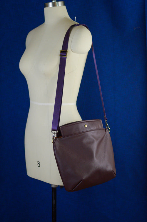 Mia Satchel | Little Brown Bag | Chocolate Faux Leather Satchel