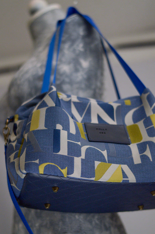 Quinn Handbag | Alpha Mosaic | Sustainable Fabric Handbag