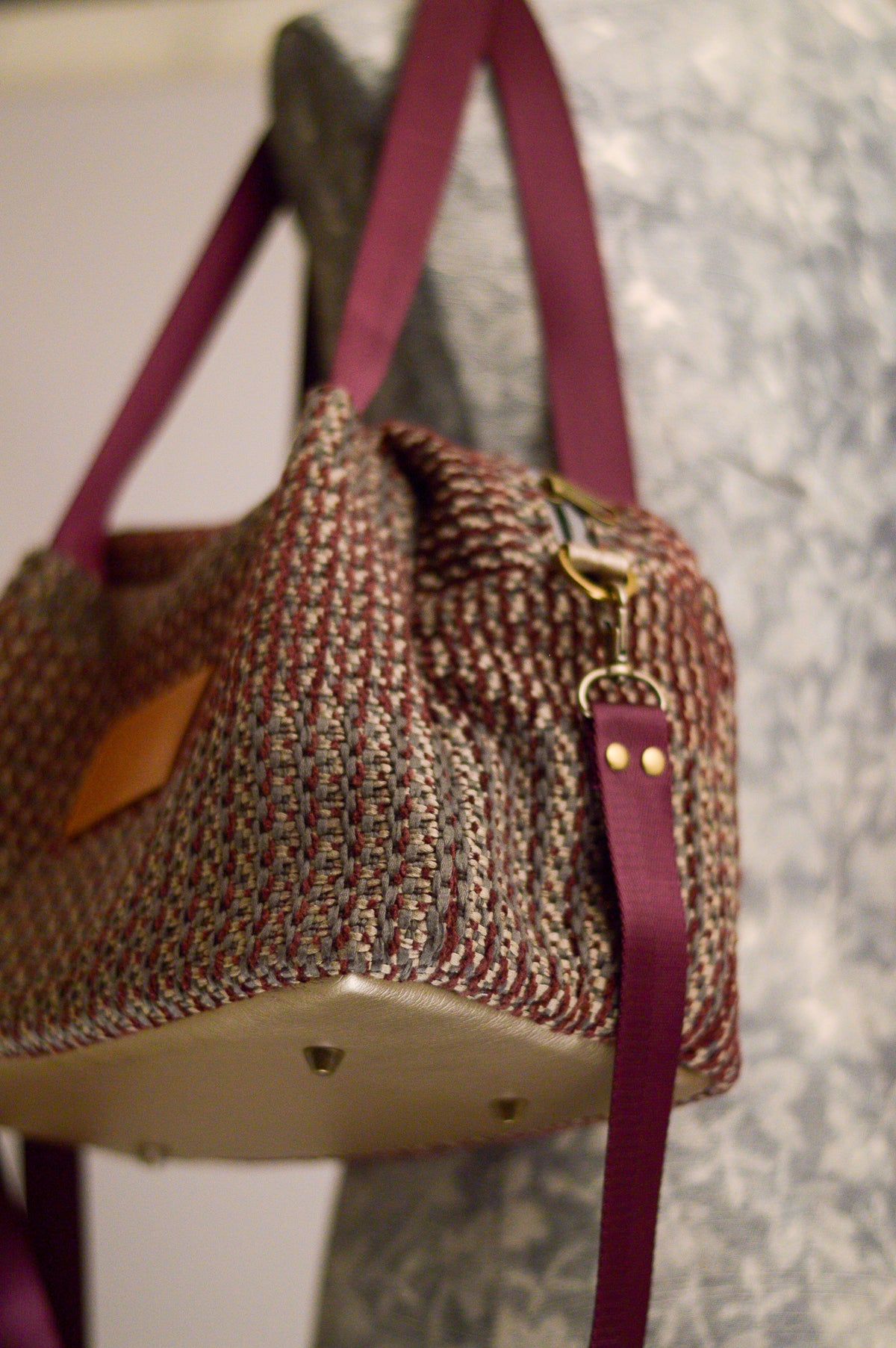 Quinn Handbag | Aubergine Plum | Sustainable Fabric Handbag