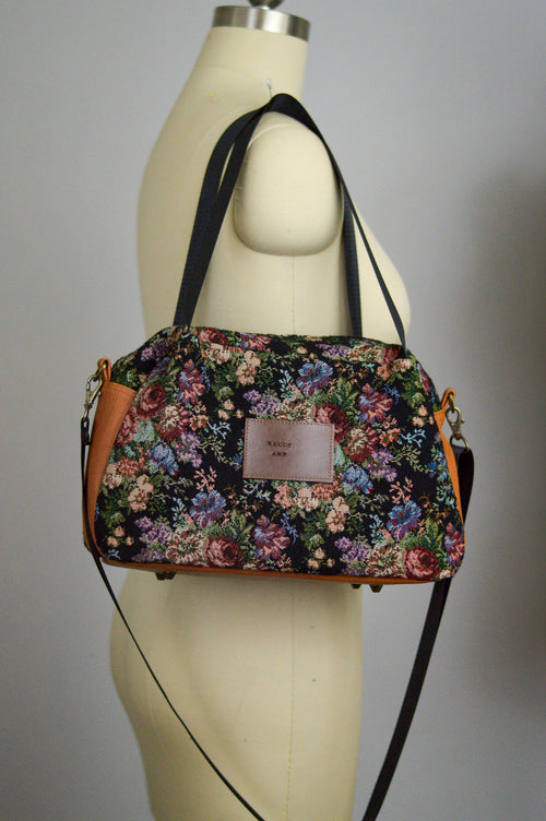 Winter Floral Quinn Handbag | Sustainable Fabric Handbag | Limited Edition