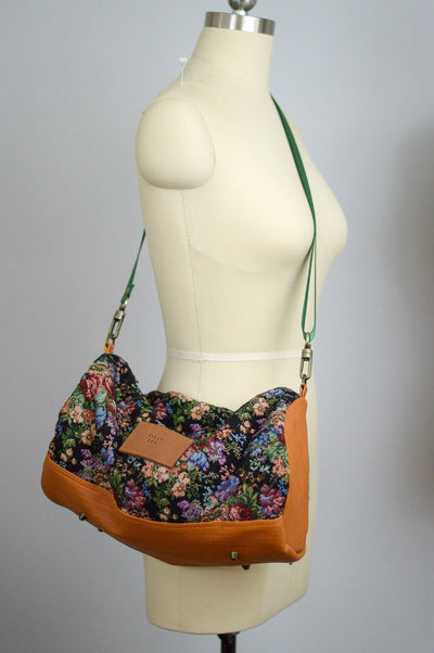 Winter Floral Mini Duffel Bag