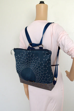 Blue Beehive Speckled Bottom Backpack