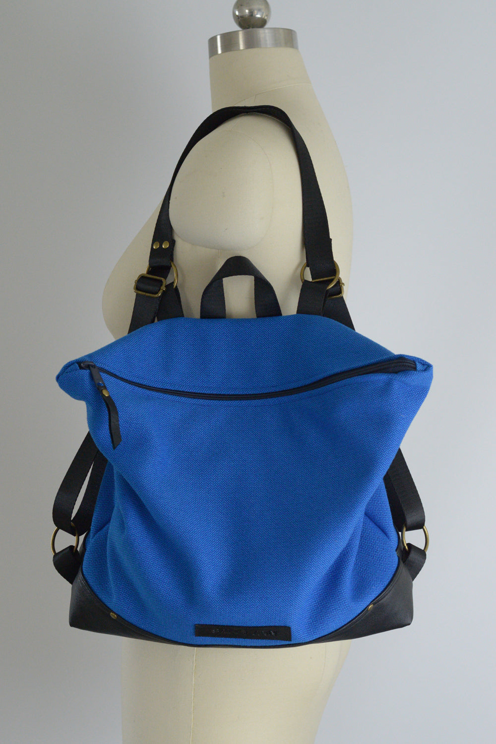 Bright Blue and Black Backpack | Made to Order