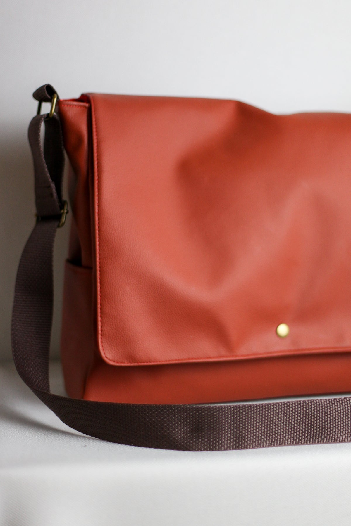 Saddle Brown Messenger Bag