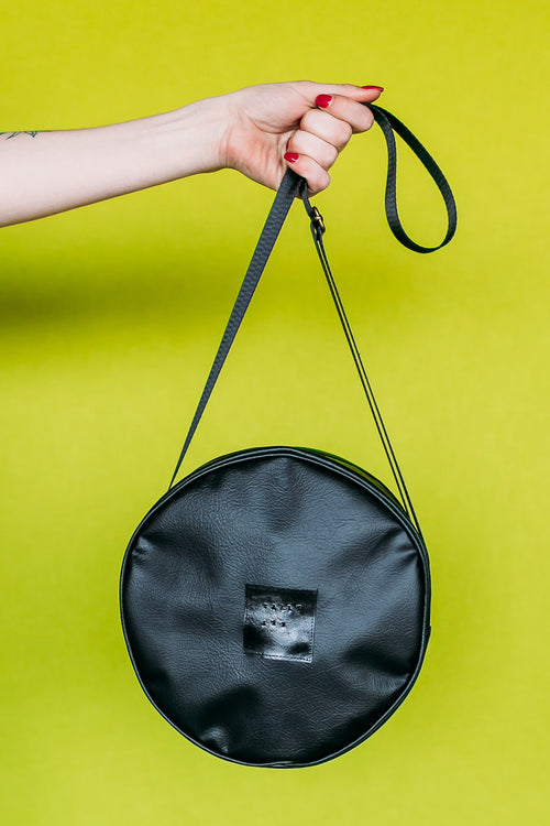 Winnie Handbag | Black Circular Casual Bag