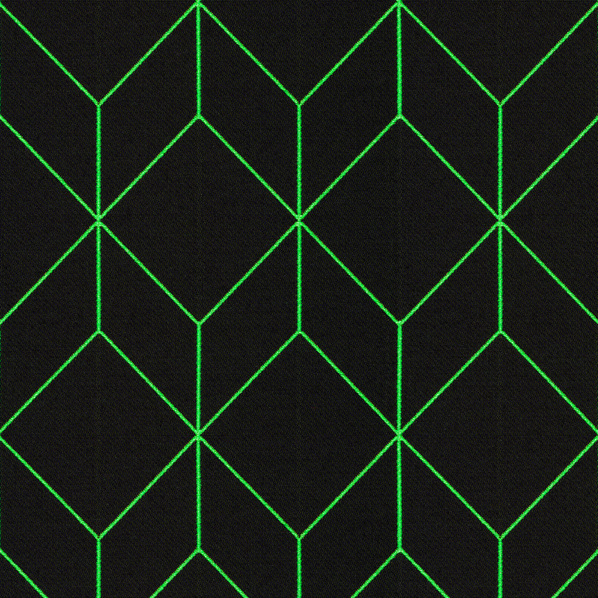 Swatch | Lime Bright Cube | Performance Fabric