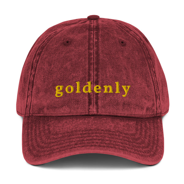 Goldenly Vintage Cotton Twill Cap