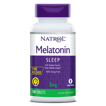 Natrol, Melatonin 3mg Time Release (100 Tablets)
