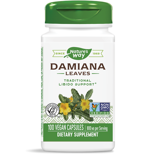 Nature's Way, Damiana Leaves 400mg (100 Capsules)