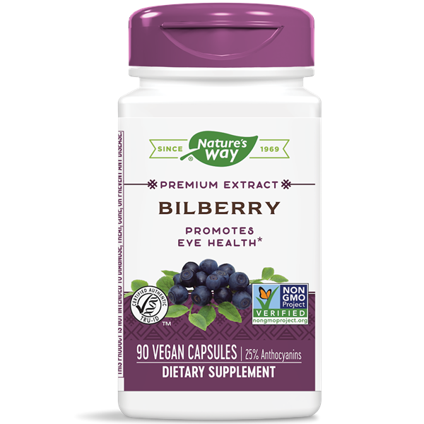Nature's Way, Bilberry Standardized Extract (90 Capsules)