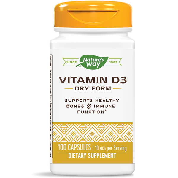 Nature's Way, Vit D 400 IU Dry (100 Capsules)
