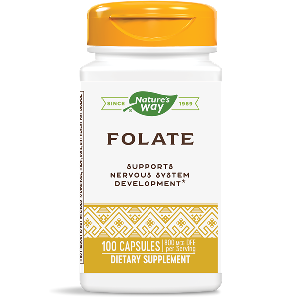 Nature's Way, Folic Acid 800 mcg (100 Capsules)