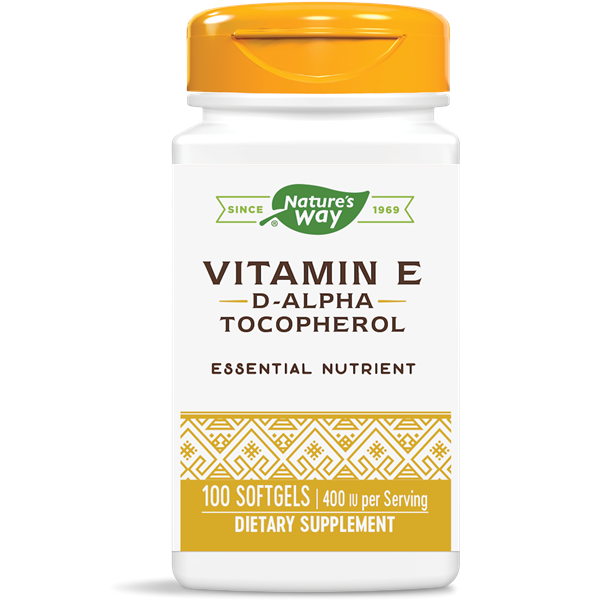 Nature's Way, Vit E 400 IU D-Alpha w/Tocopherols (100 Softgels)
