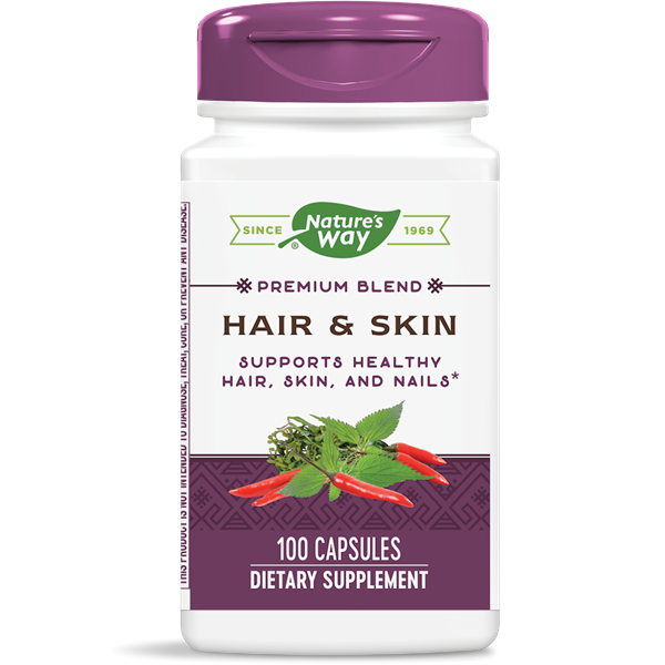 Nature's Way, Hair & Skin Formula (100 Capsules)