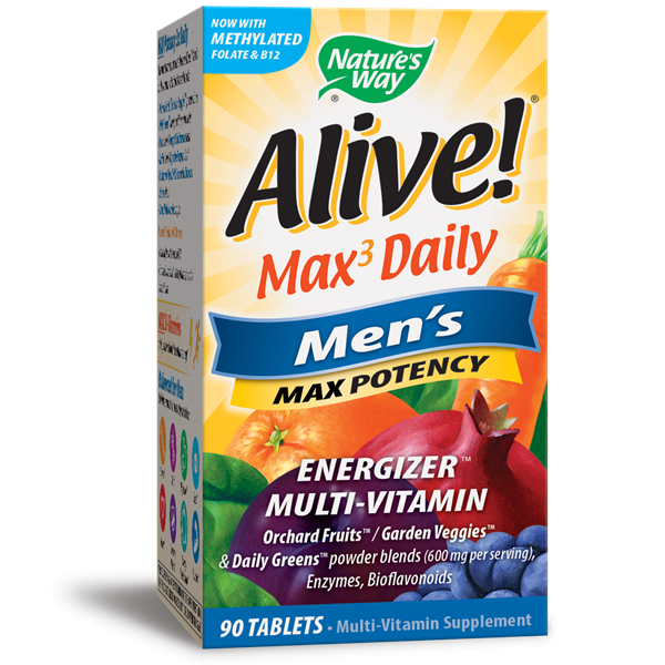 Nature's Way, Alive! Men's Max Potency Multivitamin (90 Tablets)