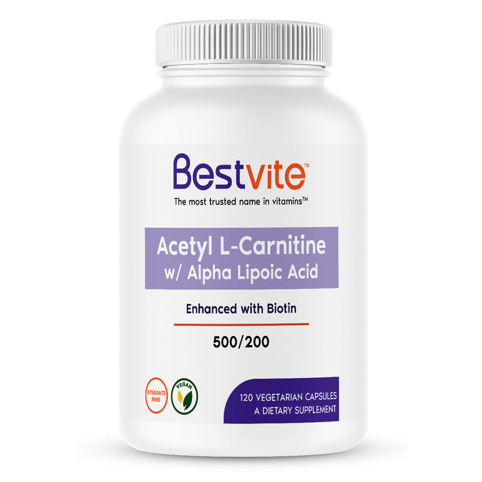Acetyl L-Carnitine 500mg & Alpha Lipoic Acid 200mg