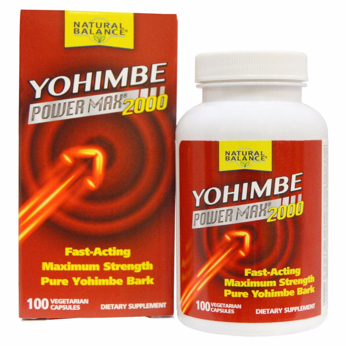 Natural Balance, Yohimbe Power Max 2000 (100 Capsules)