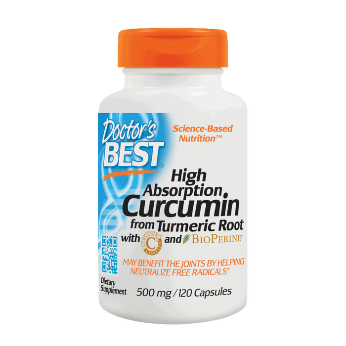 Doctor's Best, Curcumin C3 Complex with Bioperine 500 mg (120 Capsules)
