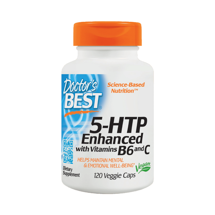 Doctor's Best, 5-HTP Enhanced with Vitamins B6 and C (120 Vegetarian Capsules)