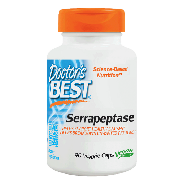 Doctor's Best, Serrapeptase 40,000 Units (90 Vegetarian Capsules)