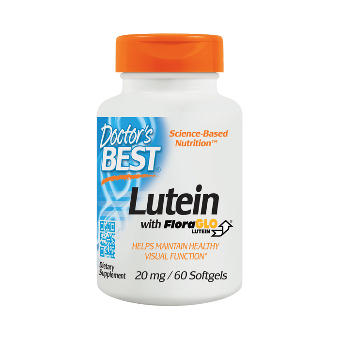 Doctor's Best, Lutein w/ FloraGlo 20mg (60 Softgels)