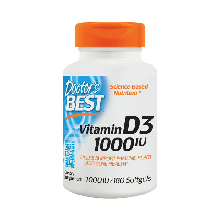 Doctor's Best, Best Vitamin D3 1000IU (180 Softgels)
