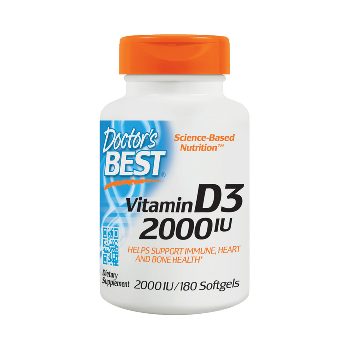 Doctor's Best, Best Vitamin D3 2000IU (180 Softgels)