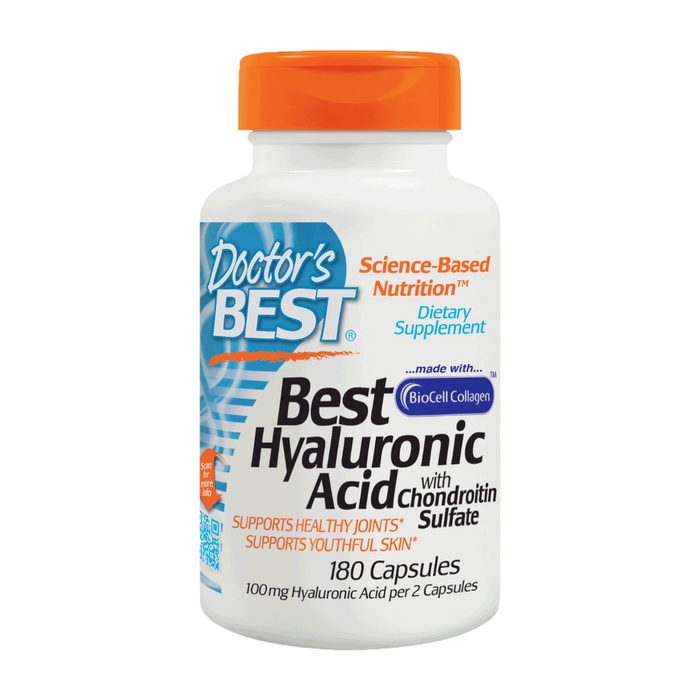 Doctor's Best, Hyaluronic Acid with Chondroitin Sulfate (180 Capsules)