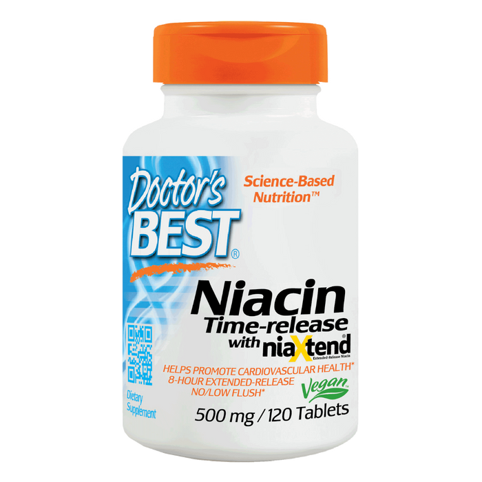 Doctor's Best, Real Niacin 500mg (120 Tablets)